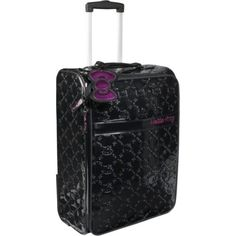 Loungefly Hello Kitty Black Embossed Rolling Luggage