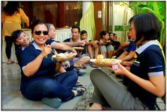 Fun eating together