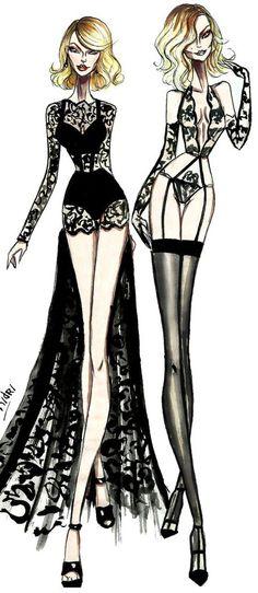 fashion illustration by armand mehidri