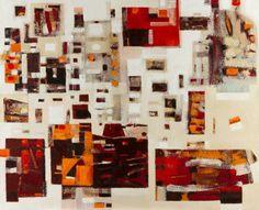 "Saatchi Art Artist JOLANTA PIELKA-KETHER; Painting, ""ABSTRACT WITH ORANGE"" #art"