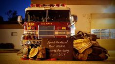 Firefighter Family Photos You'll Cherish For Generations - Firefighter Wife Firefighter Pregnancy Announcement, Gender Reveal Announcement, Creative Pregnancy Announcement, Pregnancy Announcement To Husband, Baby Announcement Pictures, Birth Announcement Boy, Firefighter Baby Showers, Firefighter Family, Firefighter Boyfriend