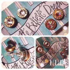 9 MM Bullet Bling Earrings ♥ HHD Style ♥