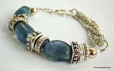 Kenya........Multi Strand  Sea Green Fluorite  Gemstone Bracelet