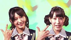 Rena Nozawa y Rina Hirata entrevistadas en Fuji TV