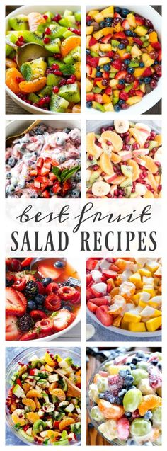 Best Fruit Salad Recipes – A Dash of Sanity - Obst Best Fruit Salad, Fruit Salad Recipes, Fruit Salad Ideas Parties, Ambrosia Fruit Salads, Summer Fruit Salads, Fruit Deserts Recipes, Breakfast Fruit Salad, Best Summer Salads, Side Salad Recipes