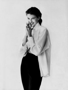 Linda Evangelista By Peter Lindbergh For Vogue Italia September 1988