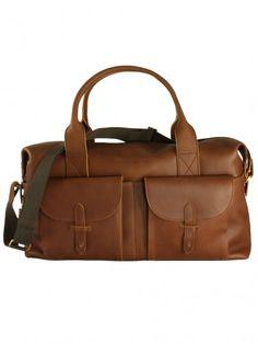 Oliver Spencer Leather Weekend Bag Tan 97c166328943f