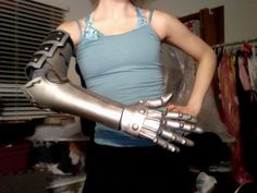 not the right metal arm, but i like the way she did the fingers