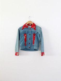 vintage 70s patchwork denim jacket - 86 Vintage