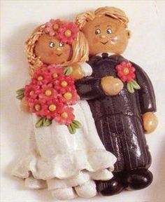 salt dough bride and groom