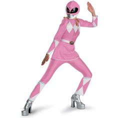 Power Rangers Pink Ranger Deluxe Adult Costume (€52) ❤ liked on Polyvore featuring costumes, halloween costumes, adult power ranger costume, party halloween costumes, silver power ranger costume, party costumes and adult pink power ranger costume