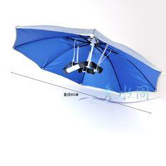 Free shipping fashion fishing tackle summer umbrella cap sun-shading  large anti-uv ultra-light folding umbrella  umbrella. $8.68