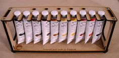 how to store and display your oil paint tubes - Google Search