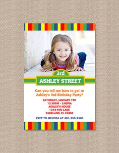 Sesame Street Inspired Birthday Party Invitations - Boy or Girl Photo