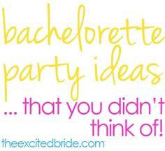 Allard  &  Kafrouni  unique bachelorette party ideas