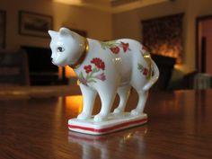 Chat en porcelaine Kakiemon millésime 1986 avec des écritures, Franklin Mint, Collection chats armoire Curio, chat amoureux cadeau, Figurines à collectionner, Japon