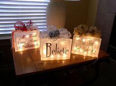 Art glass block light craft-ideas