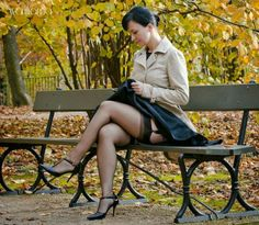 Stockings Sex in park with