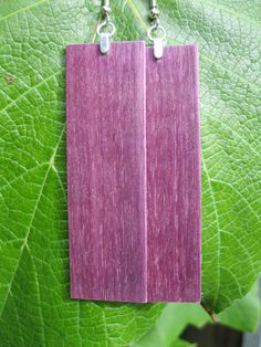 $34.95 Purpleheart earrings available on my etsy! Large Purple Wood Earrings by forestlifecreations on Etsy