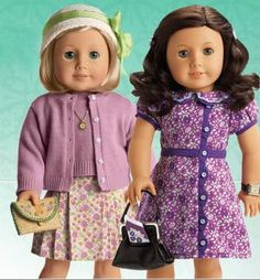 American girl dolls Kit and Ruthie. Inspired by the movie Kit Kittredge. :)