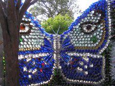 Recycled bottles. Minnie Evans Sculpture Garden, N.C.