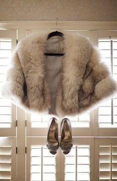 Seasonal Wedding Ideas: Winter fur coat for a 32 below wedding! #winter #fur