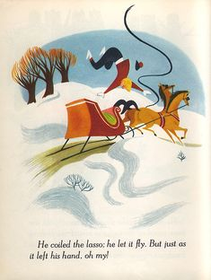 """""""Once Upon A Wintertime"""" - Illustrations by the Walt Disney Studio, from the Walt Disney motion Picture """"Melody Time"""" (1948)"""