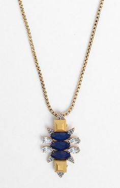 Navy Gem Amulet