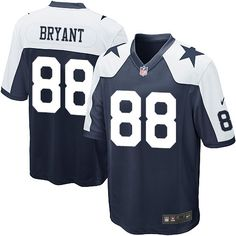 Nike Dallas Cowboys Youth #88 Dez Bryant Limited Navy Blue Alternate Throwback NFL Jersey