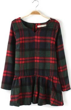 Plaid peplum for Christmas