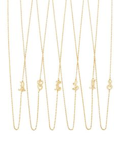 18k Gold Vermeil Mini Initial Necklace by Jennifer Zeuner at Neiman Marcus.