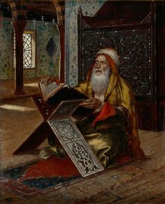 Rudolph ERNST Le Pupitre,1885 ~ orientalism