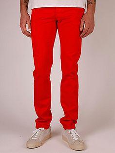 Raf Simons 1995 Slim Fit Jeans in orange at oki-ni