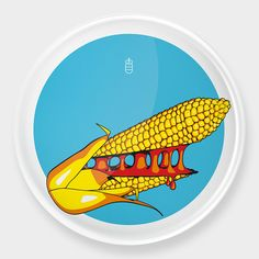 MyItaly Pizzaplate for Augarten Wien - Corn Augarten Wien, Dog Pop Art, Dog Design, Italy, Green, Italia