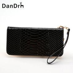 2017 New Women Leather Wallet Fashion Crocodile Pattern Wallet Ladies Purse