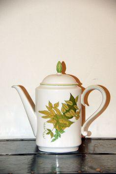 Heinrich & Co Green Floral Teapot