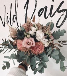 Wild bridal bouquets for all boho hearts! A great summer bouquet in bright blush, pinks with white accents! FLOWER DESIGN BY WILD DAISY Silk Bridal Bouquet, Bride Bouquets, Flower Bouquet Wedding, Wedding Dresses With Flowers, Bridal Flowers, Floral Dresses, Dusty Rose Wedding, Floral Wedding, Fleur Design