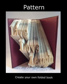 Live love laugh  Book Folding PATTERNFolded Book by TheGiftLibrary