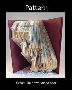 Live love laugh  Book Folding PATTERN~Folded Book art Patterns~ PATTERN