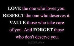Love. Respect. Value. Respect.