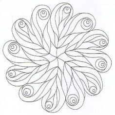 leafy spiral-y Mandala