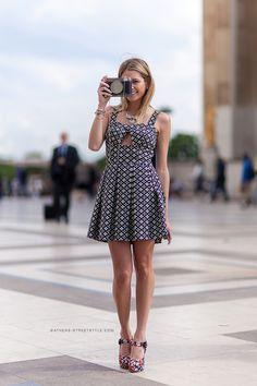 Helena Bordon - Paris Couture Fashion Week F/W 2014-2015 Street Style