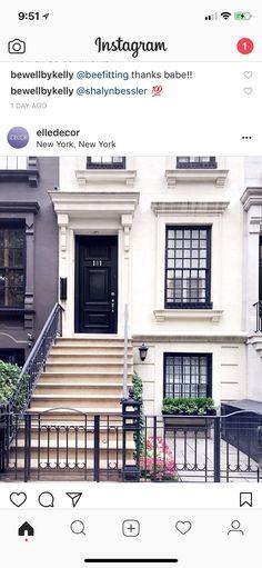 Elle Decor, Garage Doors, Mansions, House Styles, Instagram, Outdoor Decor, Paint, Water, Home