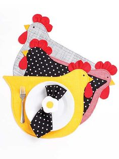 My Chicken Kitchen Sewing Pattern.place mate