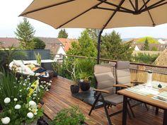 Teakterrasse 90mm geölt mit Terrassenöl der Heidelberger Lackfabrick.