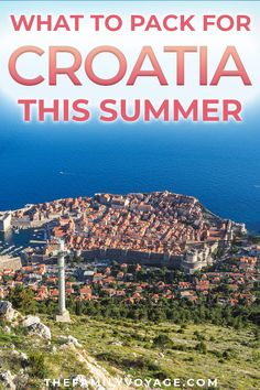 Planning your Croatia travel this summer? Check our our ultimate packing list to lighten your load whether you're visiting Dubrovnik, Plitvice, Zagreb or other beautiful areas. Our travel capsule wardrobe for Croatia has you covered for city exploring and Europe Destinations, Europe Travel Guide, Packing List For Travel, Europe Packing, Packing Lists, Travel Checklist, Holiday Destinations, Summer Travel, Us Travel