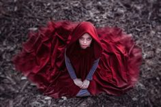 """A rare """"looking down"""" shot I like - I have s short red cape, this might try to re-vamp this with - For Jennifer  Red Riding Hood by Kharul  Akmal, via 500px"""