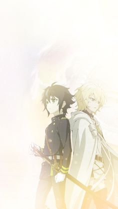 Yuu and Mika from the Anime Series seraph of the end Manga Anime, All Anime, Anime Love, Anime Guys, Anime Art, Animes Wallpapers, Cute Wallpapers, Mika Y Yuu, Chibi