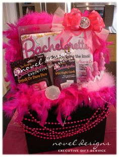 Naughty Bachelorette Gift Basket - #LasVegas #Bachelorette #GiftBasket - noveldesignsllc.com