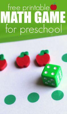 Free Printable Math Game For Preschool